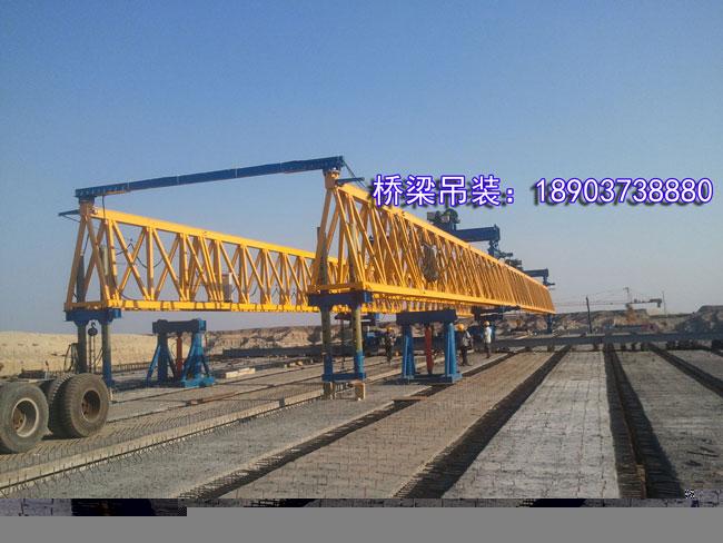 新疆克乌高速40MT梁吊装