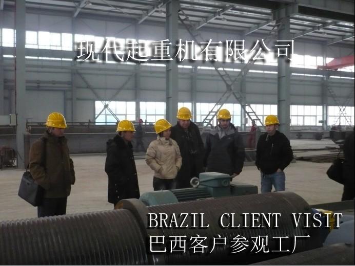 巴西客户参观工厂